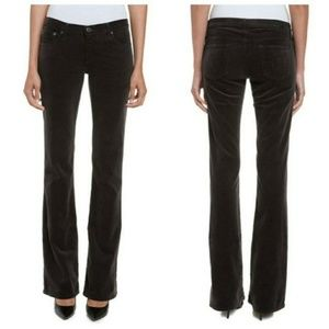 AG The Angel Black Velvet Bootcut Jeans 29